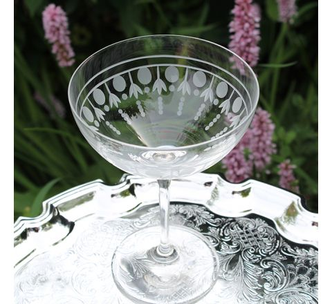 Nouveau - Single Saucer Champagne (Coupe) Glass (Gift Boxed Individually) - NEW