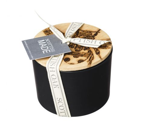 Scented Candle with Bee Engraved Lid | Scottish Oak - New!