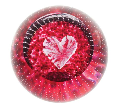 Forever in my Heart Glass Paperweight, 80mm (Love) | James Pirie
