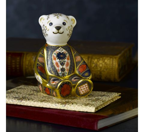Old Imari Solid Gold Band Bear 106mm (Gift Boxed) | Royal Crown Derby - AVAILABLE TO PRE ORDER