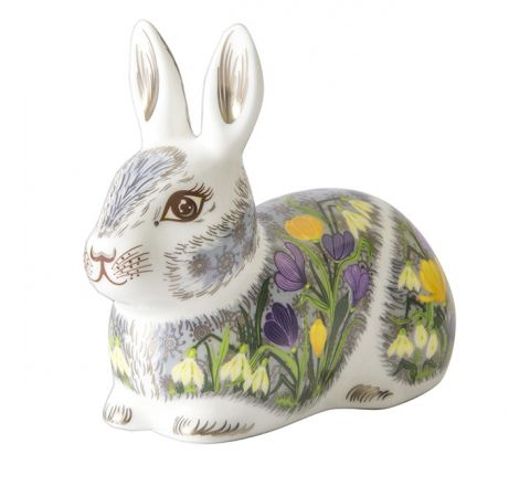 Springtime Bunny (w100mm) (Gift Boxed) | Royal Crown Derby