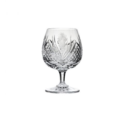 Scottish Thistle - Single Brandy Glass 132mm (Gift Boxed) | Royal Scot Crystal