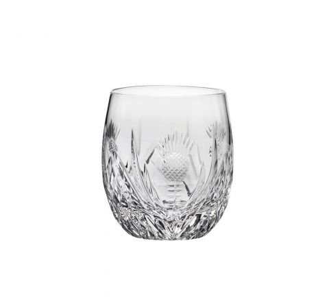 Scottish Thistle - Single Barrel Tumbler 85mm (Gift Boxed) | Royal Scot Crystal