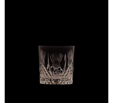 Scottish Thistle - Single Whisky Tumbler 84mm (Gift Boxed) | Royal Scot Crystal