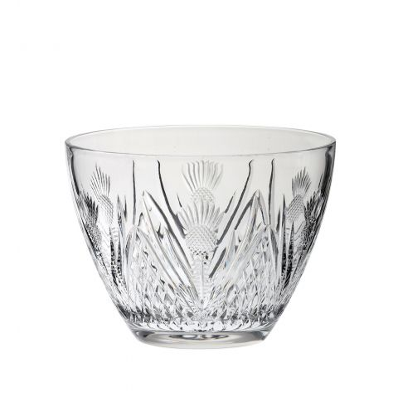 Scottish Thistle - Prestige Fruit / Salad Bowl - 205mm (Gift Boxed) | Royal Scot Crystal