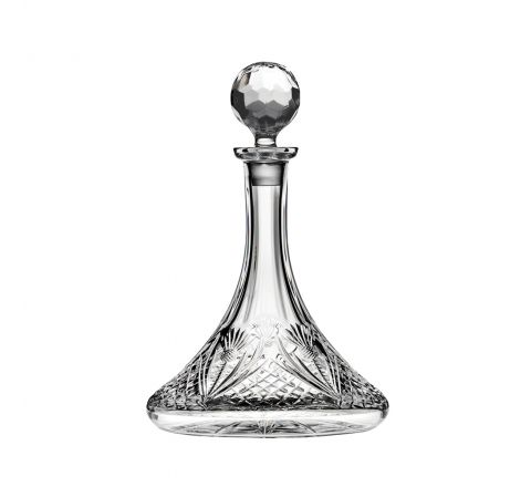 Scottish Thistle - Ships Decanter 290mm (Gift Boxed) | Royal Scot Crystal