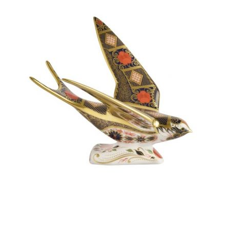 Old  Imari  Solid  Gold  Band  Swallow 100mm (Gift Boxed) | Royal Crown Derby