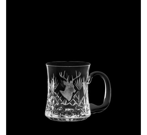 British Wildlife - Kintyre Tankard (1 pint, 56cl) engraved STAG (Gift Boxed)