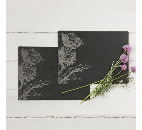 Slate Thistle Place Mats (table mats) (set of 2)