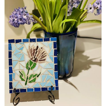 Thistle Mosaic Art Decorative Tile