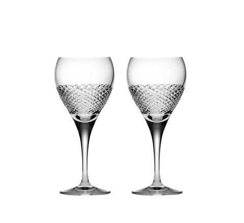 Tiara - 2 Crystal Wine Glasses 195mm (Gift Boxed) | Royal Scot Crystal