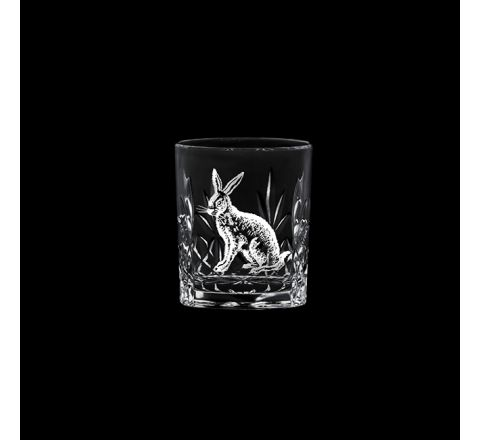 British Wildlife - Kintyre Tot (SHOT) Glass engraved HARE (60mm, 6cl) (gift boxed)