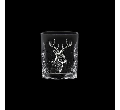 British Wildlife - Kintyre Tot (SHOT) Glass engraved STAG (60mm, 6cl) (Gift Boxed)