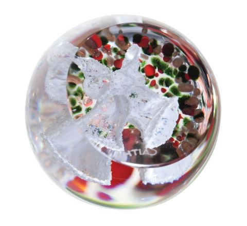 Christmas Frostings Bells (Glass paperweight / Ornament)  50mm | James Pirie