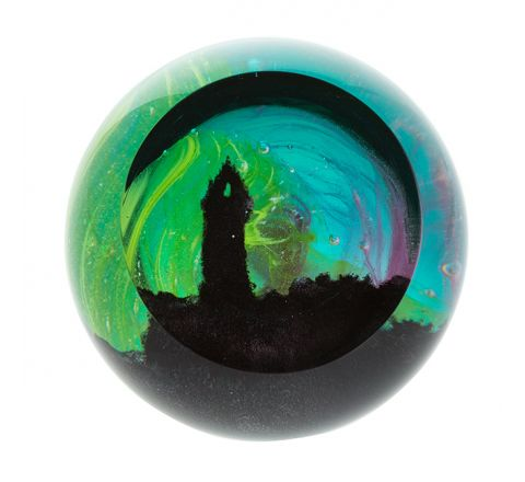 Wallace Monument Glass paperweight, 80mm (Scottish Landmarks) |Caithness Glass