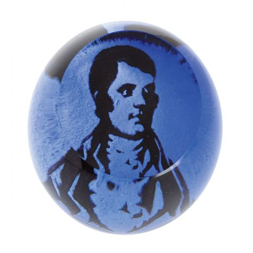 Robert Burns Glass Paperweight (Scottish) - 80mm | Caithness Glass