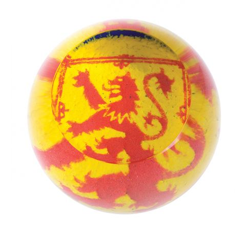 The Lion Rampant Glass Paperweight (Scottish) - 80mm | Caithness Glass