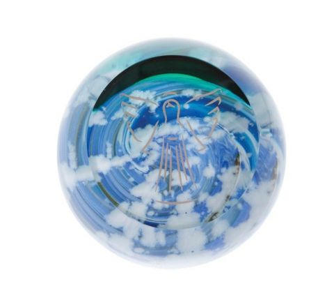 Heavenly Skies Angel -  Glass paperweight, 80mm | Caithness Glass
