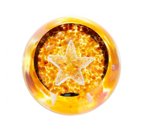 Celebrations - Big Star Glass Paperweight, 80mm| Caithness Glass