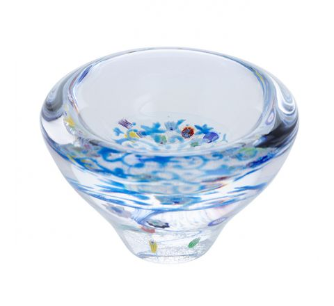 Forget me Not Glass Dish, (Lace) 100mm - | Caithness Glass