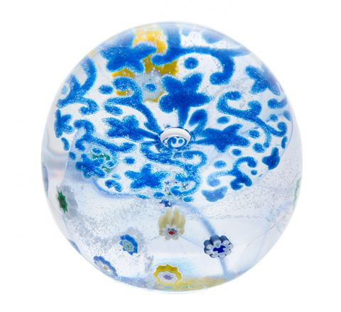 Forget me Not  (Lace) Glass Paperweight, 65mm - | Caithness Glass