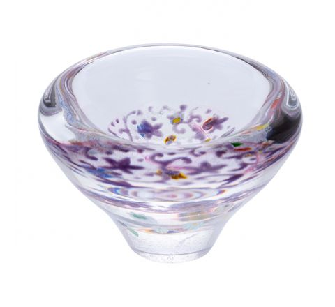 Heather Glass Dish, (Lace) 100mm -| Caithness Glass