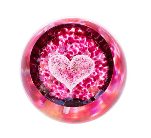 Big Heart Glass Paperweight (Love) - 80mm -| Caithness Glass