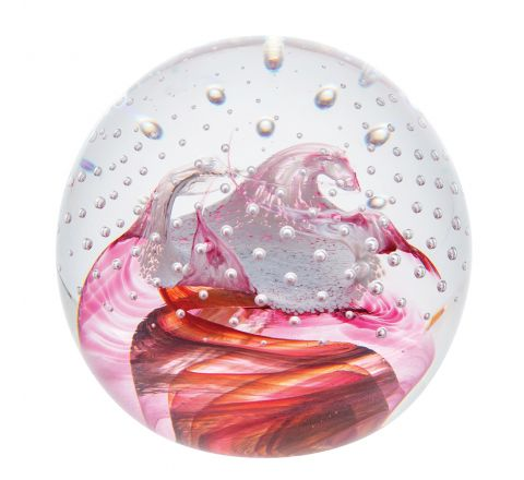Celebrations Congratulations Ruby Glass Paperweight, 80mm (Love) | Caithness Glass