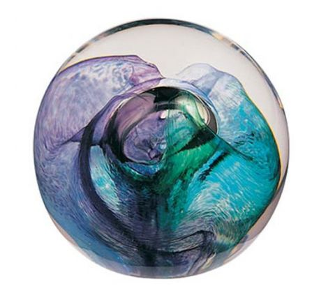 Mooncrystals Green Glass Paperweight 55mm | James Pirie