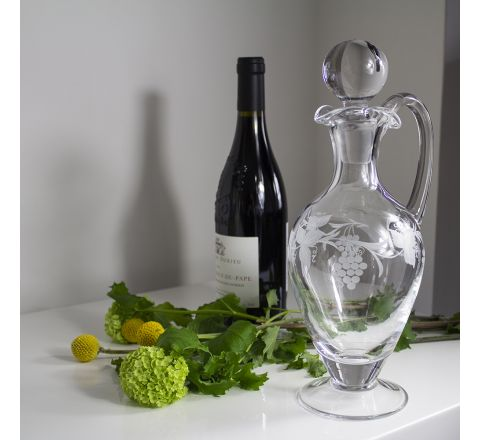 Vine - Handled Wine Decanter, 310mm (Gift Boxed) | Royal Scot Crystal