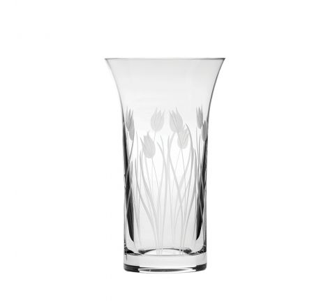 Wild Tulip  Flared Vase 200mm (Gift Boxed) | Royal Scot Crystal
