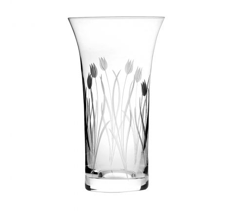 Wild Tulip Large Flared Vase - 255mm (Gift Boxed) | Royal Scot Crystal