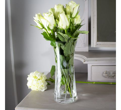 Wild Tulip  Lily Vase - 230mm (Gift Boxed)   Royal Scot Crystal