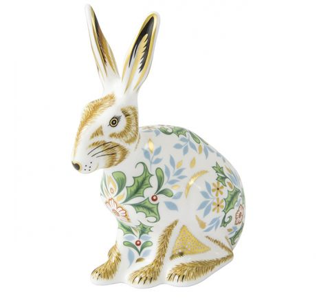 Winter Hare 130mm (Gift Boxed) | Royal Crown Derby