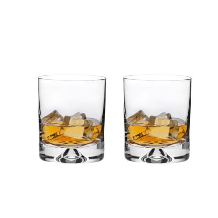 2 Old Fashioned Whisky Tumblers (Dimple based) (Gift Boxed)