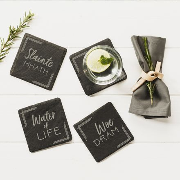 Slate Whisky Coasters (set of 4)