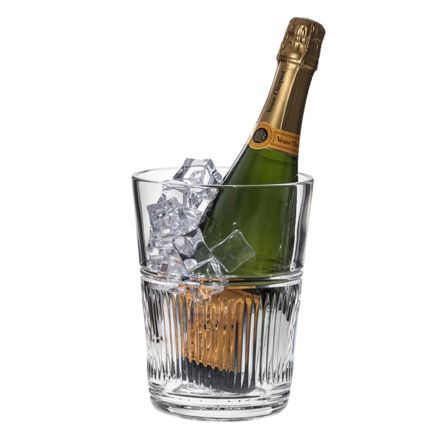 Art Deco Crystal Champagne Bucket - 200mm (Gift Boxed)   Royal Scot Crystal