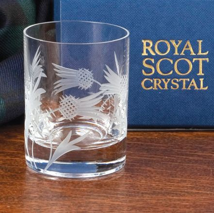 Flower of Scotland Tot (Shot) Glass (Straight Sided) (Gift Boxed)