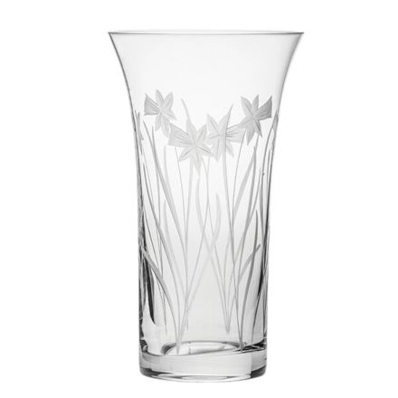 Daffodils Large Flared Vase 260mm (Gift Boxed) | Royal Scot Crystal