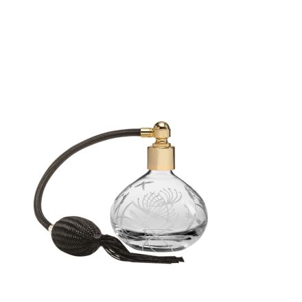 Dragonfly Round Perfume Atomiser (Black Puffer)  - 105mm (Gift Boxed) | Royal Scot Crystal
