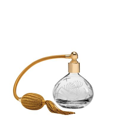 Dragonfly Round Perfume Atomiser (Gold Puffer) - 105mm (Gift Boxed) | Royal Scot Crystal