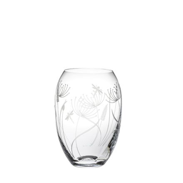 Dragonfly Small Barrel Vase (Giftware) - 145mm (Gift Boxed)   Royal Scot Crystal