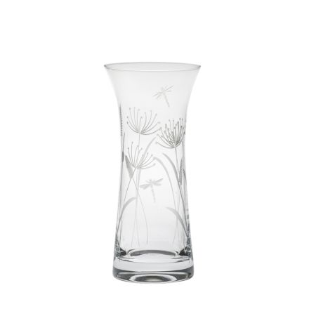 Dragonfly Lily Vase (Giftware) - 230mm (Gift Boxed) | Royal Scot Crystal