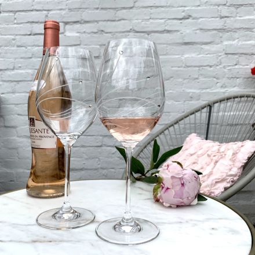 Diamante - 2 Large Wine Glasses (Presentation Boxed)