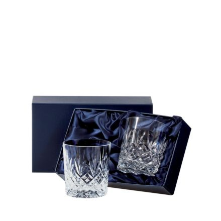 Edinburgh - 2 Large Crystal Tumblers 95 mm (Presentation Boxed) | Royal Scot Crystal