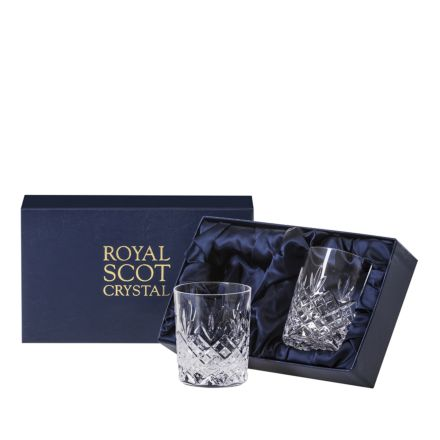 Edinburgh - 2 Crystal Small Whisky Tumblers 87mm (Presentation Boxed) | Royal Scot Crystal