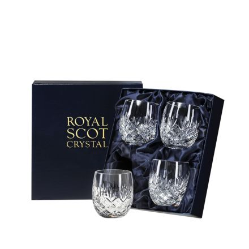 Edinburgh - 4 Barrel Tumblers 85mm (Presentation Boxed)   Royal Scot Crystal