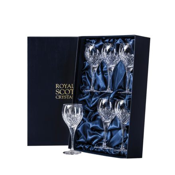 Edinburgh - 6 Large Crystal Wine Glasses 210mm (Presentation Boxed) | Royal Scot Crystal - New Shape