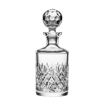 Edinburgh Single Malt Round Spirit Decanter 250mm (Gift Boxed) | Royal Scot Crystal