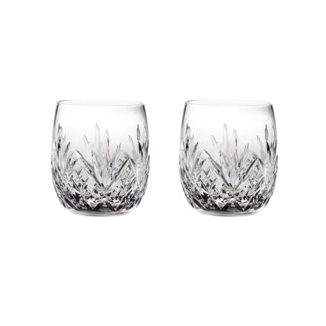 Highland Crystal 2 Gin & Tonic Tumblers (G&T) 12oz 95mm (Barrel Shaped) (Gift Boxed)   Royal Scot Crystal